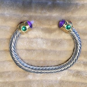 Jewelry - Torc Bracelet w/ Multi color stones - J1